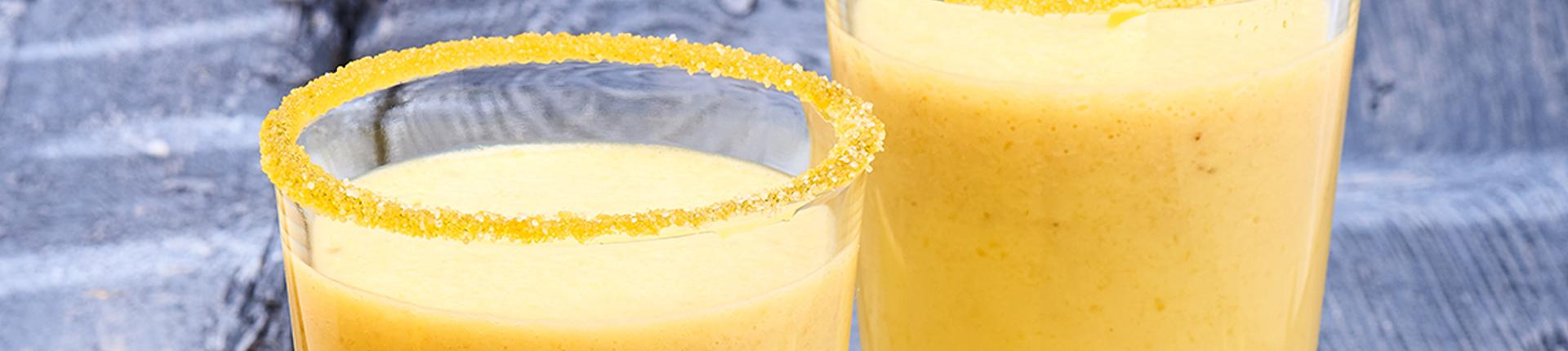 Pineapple-banana-lime smoothie