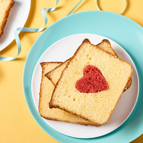 Cake with surprise heart