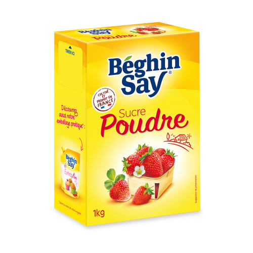 sucre poudre 1kg beghin say